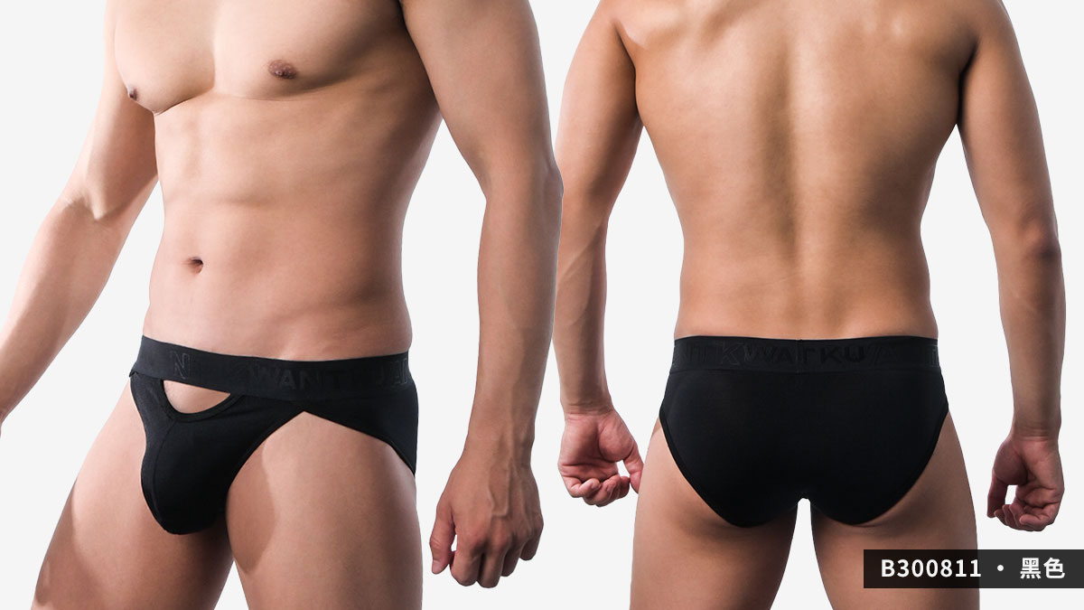 wantku,運動型,彈性,三角褲,男內褲,sports,elastic,briefs,underwear,b30081,黑色,black,b300831