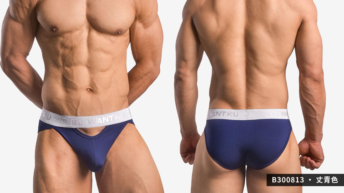 wantku,運動型,彈性,三角褲,男內褲,sports,elastic,briefs,underwear,b30081,丈青色,navy blue,b300833