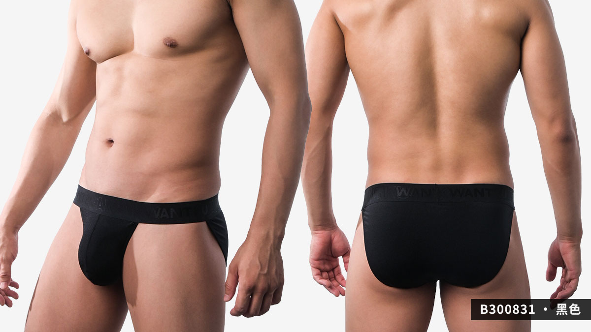 wantku,彈性,高岔,三角褲,男內褲,elastic,high,briefs,underwear,b30083,黑色,black,b300831