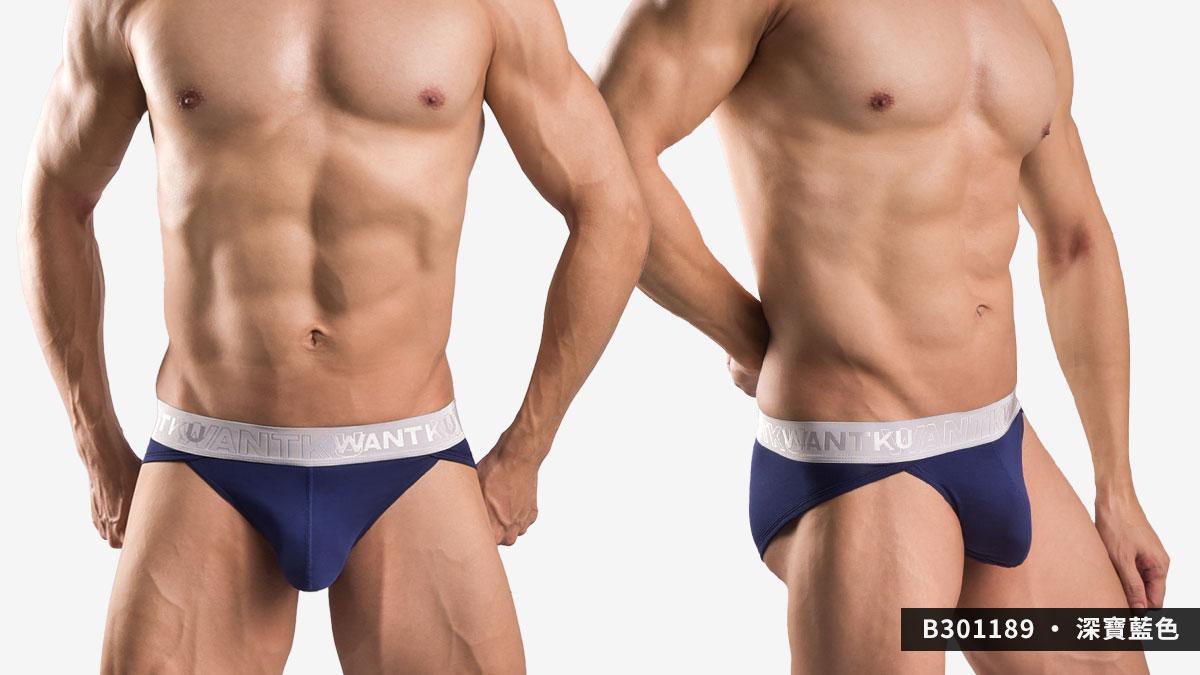 wantku,莫代爾,高岔,三角褲,男內褲,rayon,high cut,briefs,underwear,b30118,深寶藍色,drak blue,b301189
