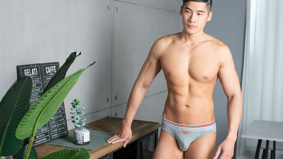 wantku,小孔,透氣,三角褲, 男內褲,hole,breathable,briefs,underwear