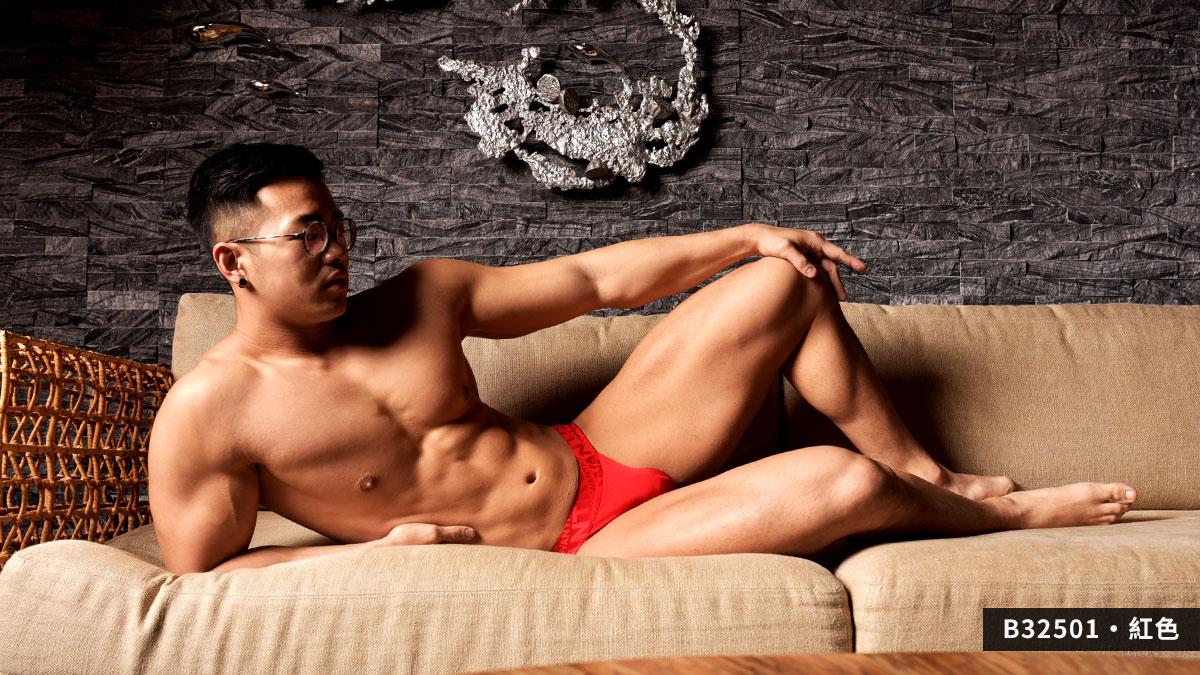 wantku,2020,新年,高岔,三角褲,男內褲,new year,briefs,underwear,b3250,紅色,red,b32503
