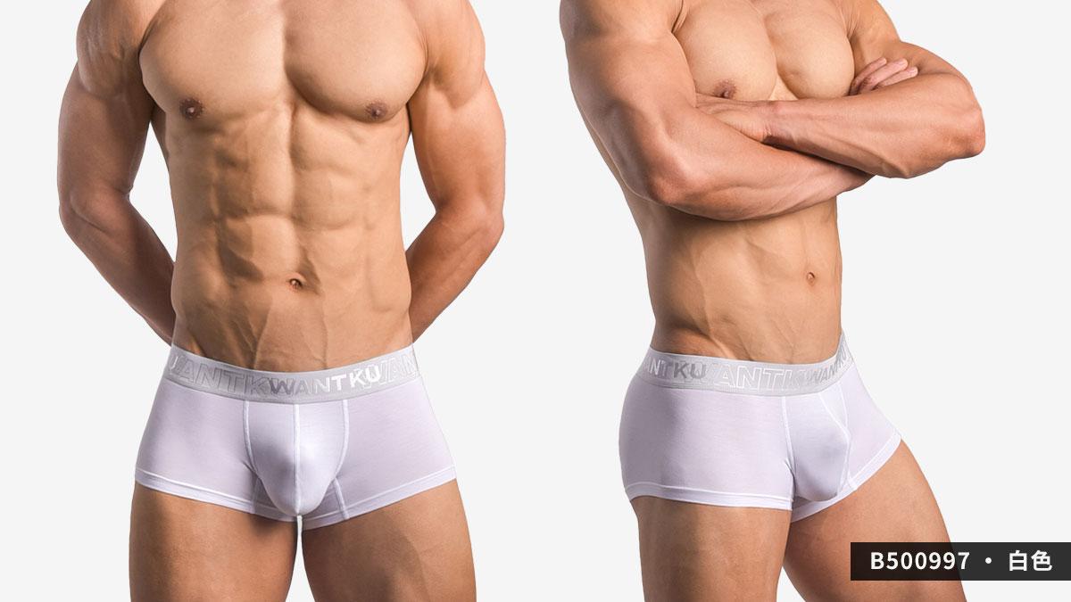 wantku,基本款,莫代爾,四角褲,basic type,rayon,boxers,b50099,白色,white,b500997
