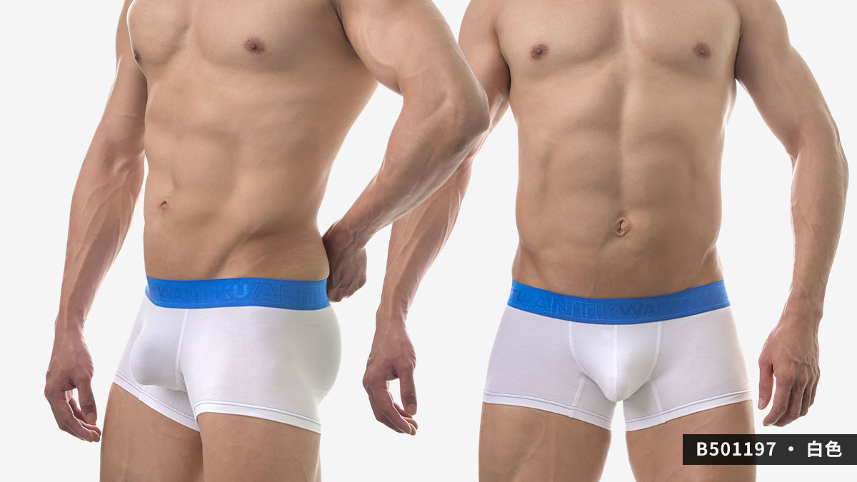 wantku,彈性棉,四角褲,男內褲,elastic,cotton,boxers,underwear,b50119,黑色,black,白色,white,麻灰色,grey,b501197