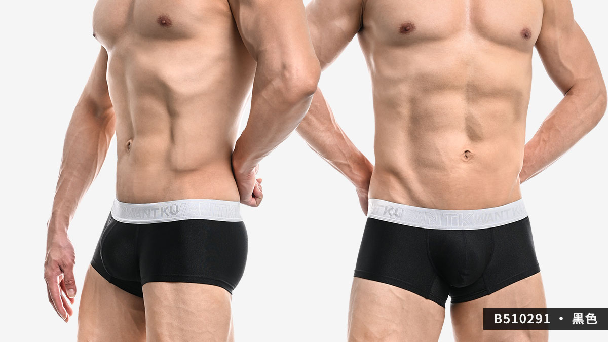 wantku,霧面,基本款,四角褲,男內褲,b51029,matte,basic style,boxers,underwear,黑色,black,白色,white,b510291