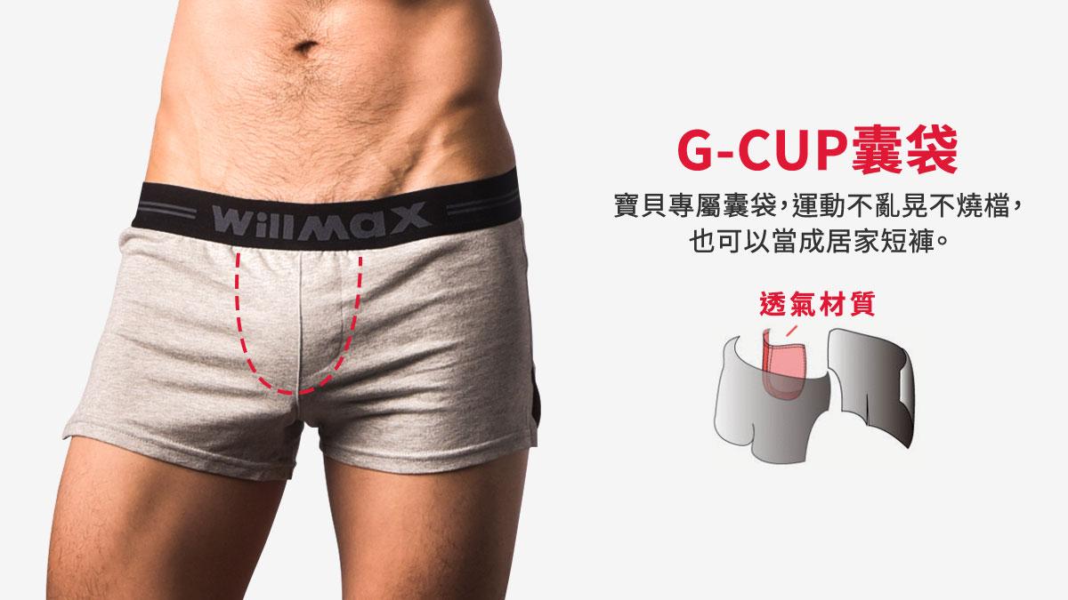 willmax,g-cup,運動,平口褲,男內褲,sports,boxers,underwear,bh245,灰色,grey,bh2452
