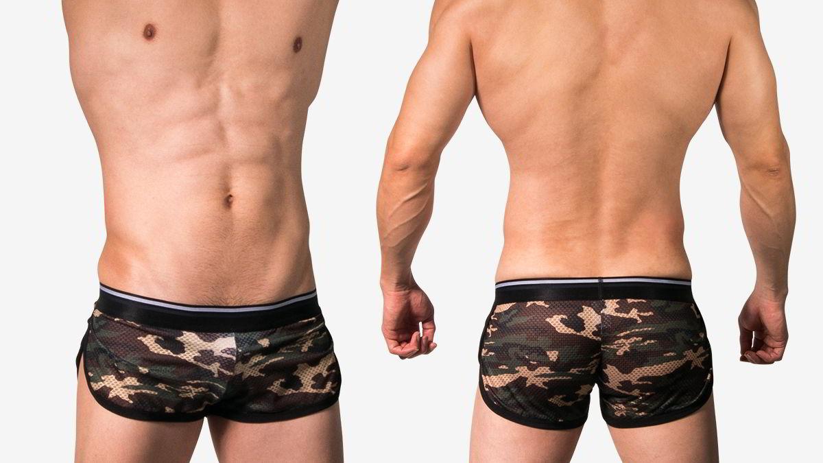 迷彩,側開,囊袋,平口褲,男內褲,camouflage,side opening,g-cup,trunks,underwear