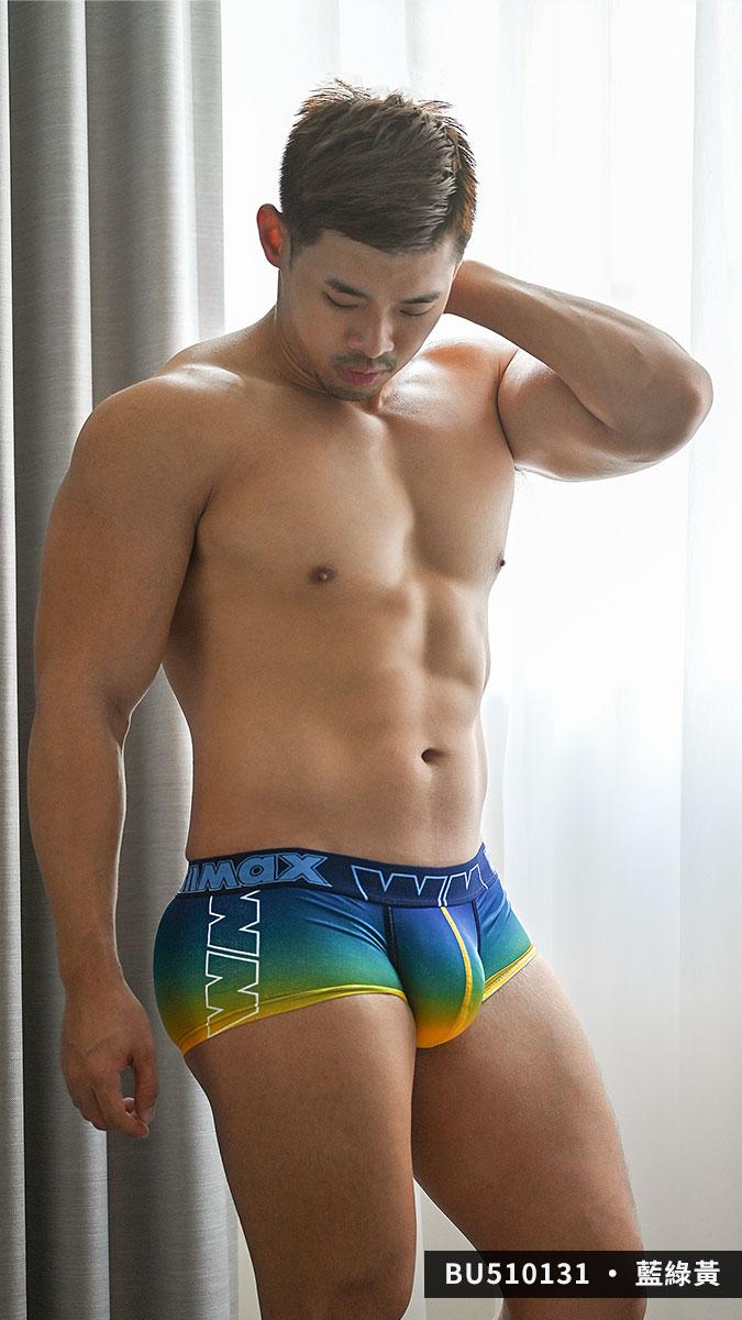 willmax,漸層,tdt,好屌型,四角褲,男內褲,gradient,enhancing bulge,bu51013,藍色,綠色,黃色,紫色,紅色,blue,green,yellow,purple,red,bu510131