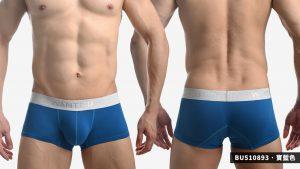 wantku,素色,彈性棉,四角褲,男內褲,plain,elastic,cotton,boxers,underwear,bu51089,粉紅色,pink,深灰色,dark grey,寶藍色,royal blue