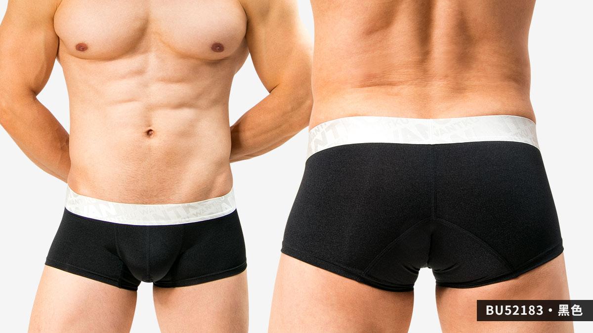 wantku,運動型,基本款,四角褲,男內褲,sports,basic types,boxers,underwear,bu5218,黑色,black,bu52183