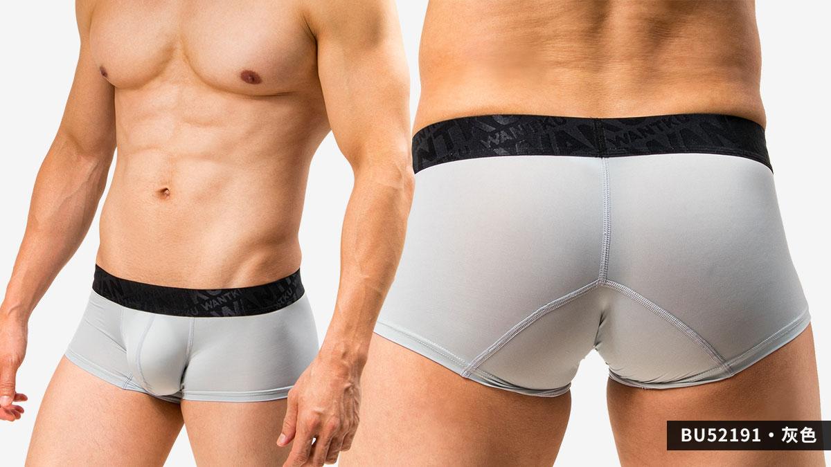 wantku,運動型,基本款,四角褲,男內褲,sports,basic types,boxers,bu5219,灰色,grey,bu52191