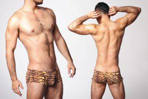 animal,pattern,fitted,low waist,boxers,underwear
