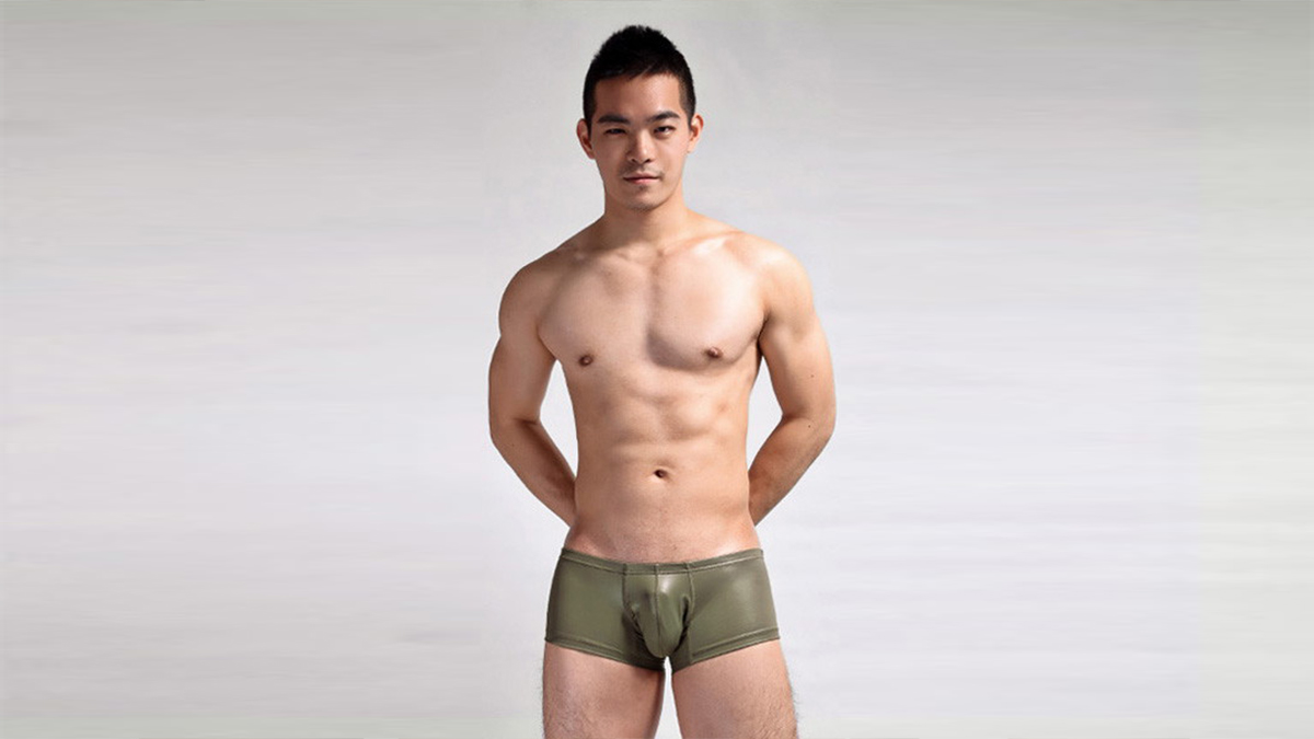 仿皮,四角褲,男內褲,db500,imitation leather,boxers,underwear
