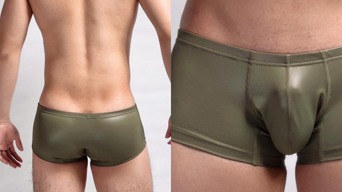 仿皮,四角褲,男內褲,db500,imitation leather,boxers,underwear