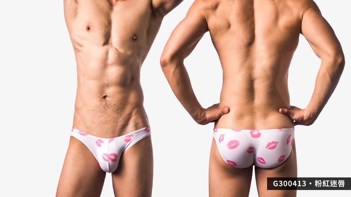 willmax,星星,迷唇,三角褲,男內褲,stars,lips,briefs,underwear,g30041,粉紅迷唇,pink lips,g300413