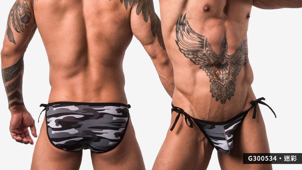 wantku,綁繩,三角褲,男內褲,tied rope,briefs,underwear,g30053.迷彩,camouflage,g300534