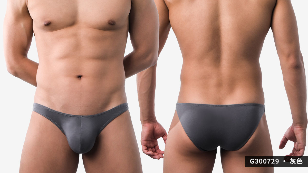 wantku,激凸,彈性,莫代爾,三角褲,男內褲,intense convex,rayon,briefs,underwear,g30072,灰色,grey,g300729