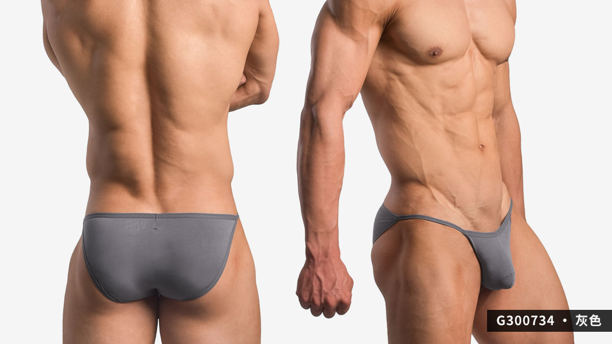 wantku,彈性,莫代爾,三角褲,男內褲,elastic,rayon,briefs,underwear,g30073,灰色,grey,g300734