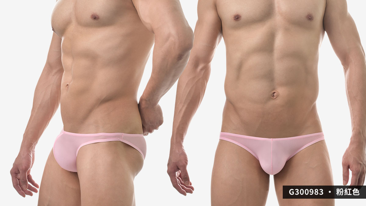 wantku,超薄,細羅紋,三角褲,男內褲,super thin,texture,briefs,underwear,g30098,粉紅色,pink,g300983