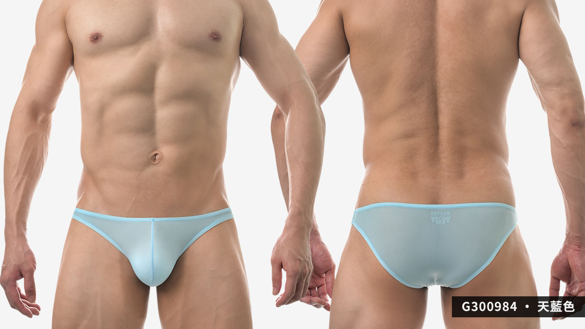wantku,超薄,細羅紋,三角褲,男內褲,super thin,texture,briefs,underwear,g30098,天藍色,sky blue,g300984