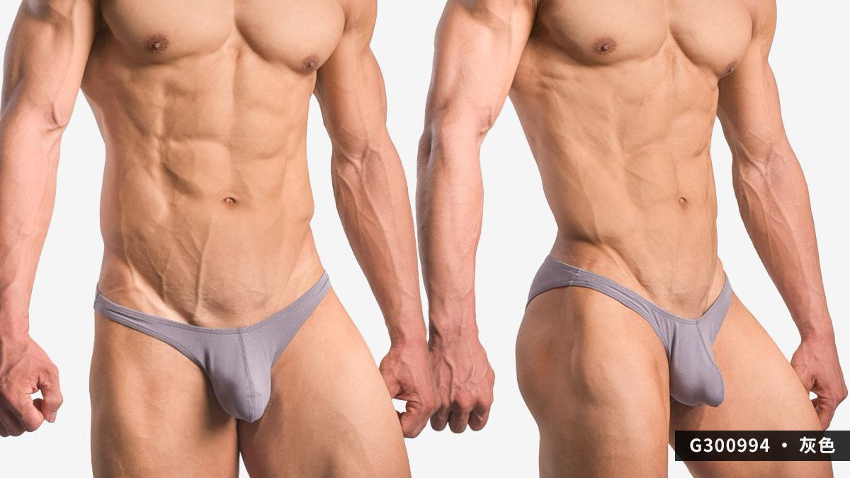 wantku,激凸,莫代爾,三角褲,男內褲,protruding,rayon,briefs,underwar,G30099,灰色,grey,G300994