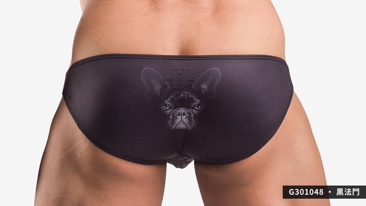 willmax,zoo,低腰,三角褲,男內褲,動物,動物園,low waist,briefs,underwear,黑色,black,法鬥,french bulldog,粉紅,pink,豬,pig,g30104,g301048