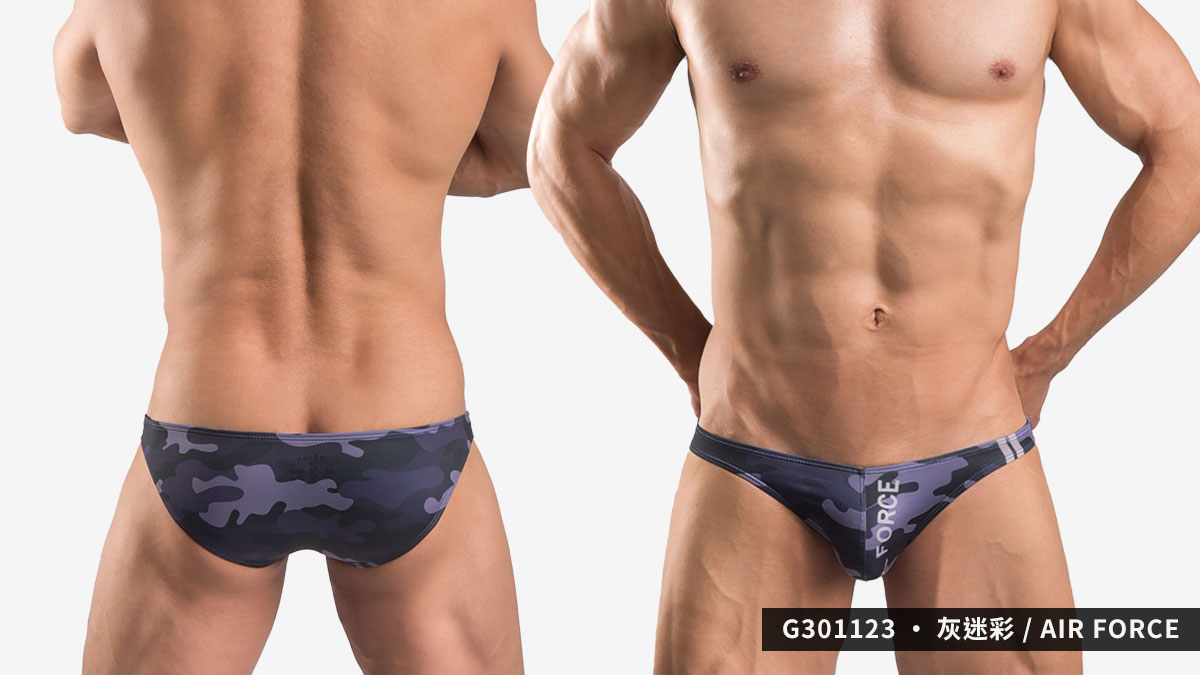 willmax,迷彩,低腰,三角褲,男內褲,camouflage,low waist,briefs,g30112,army,navy,air force,灰迷彩,grey,g301123
