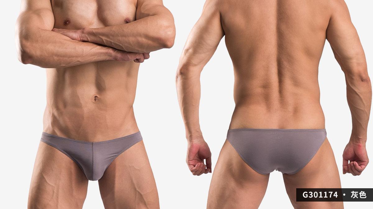 wantku,莫代爾,低腰,三角褲,男內褲,rayon,low waist,briefs,underwear,g30117,灰色,grey,G301174