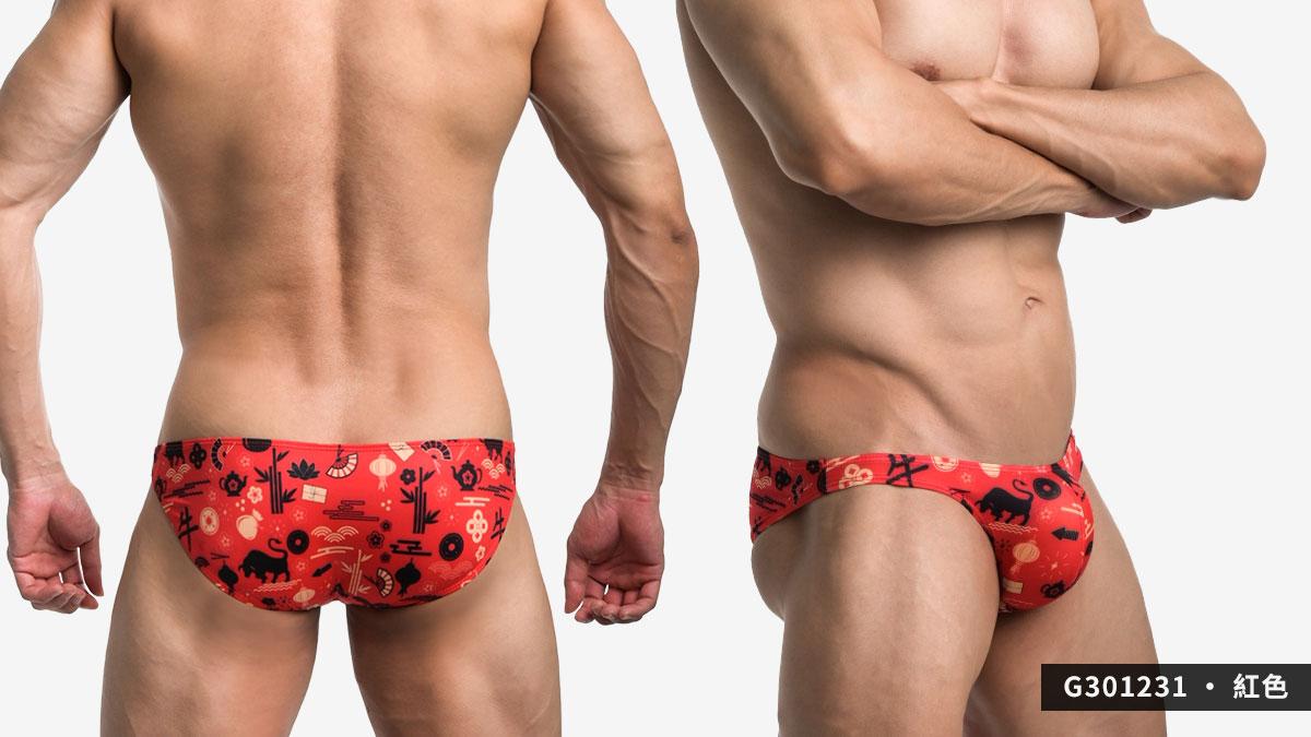 willmax,2021,辛丑,牛年,三角褲,男內褲,ox year,briefs,underwear,g30123,紅色,red,黑色,black,301231