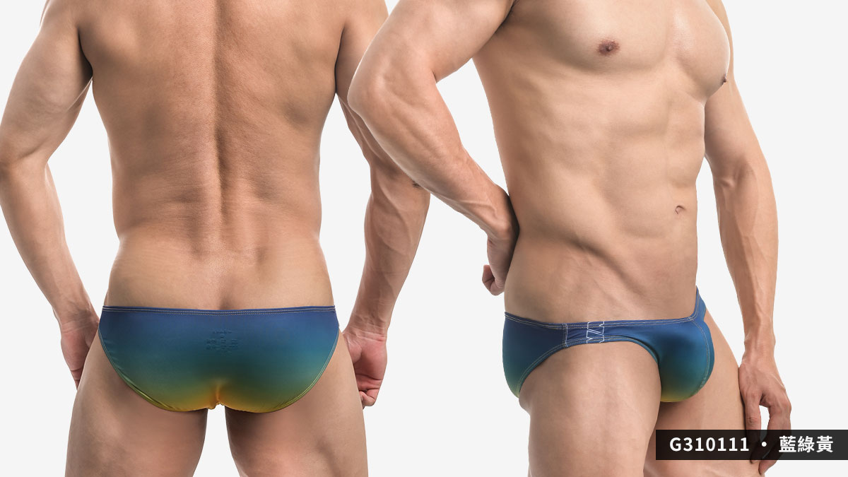 willmax,漸層,tdt,低腰,三角褲,男內褲,gradient,low waist,briefs,g31011,藍色,綠色,黃色,紫色,紅色,blue,green,yellow,purple,red,g310111