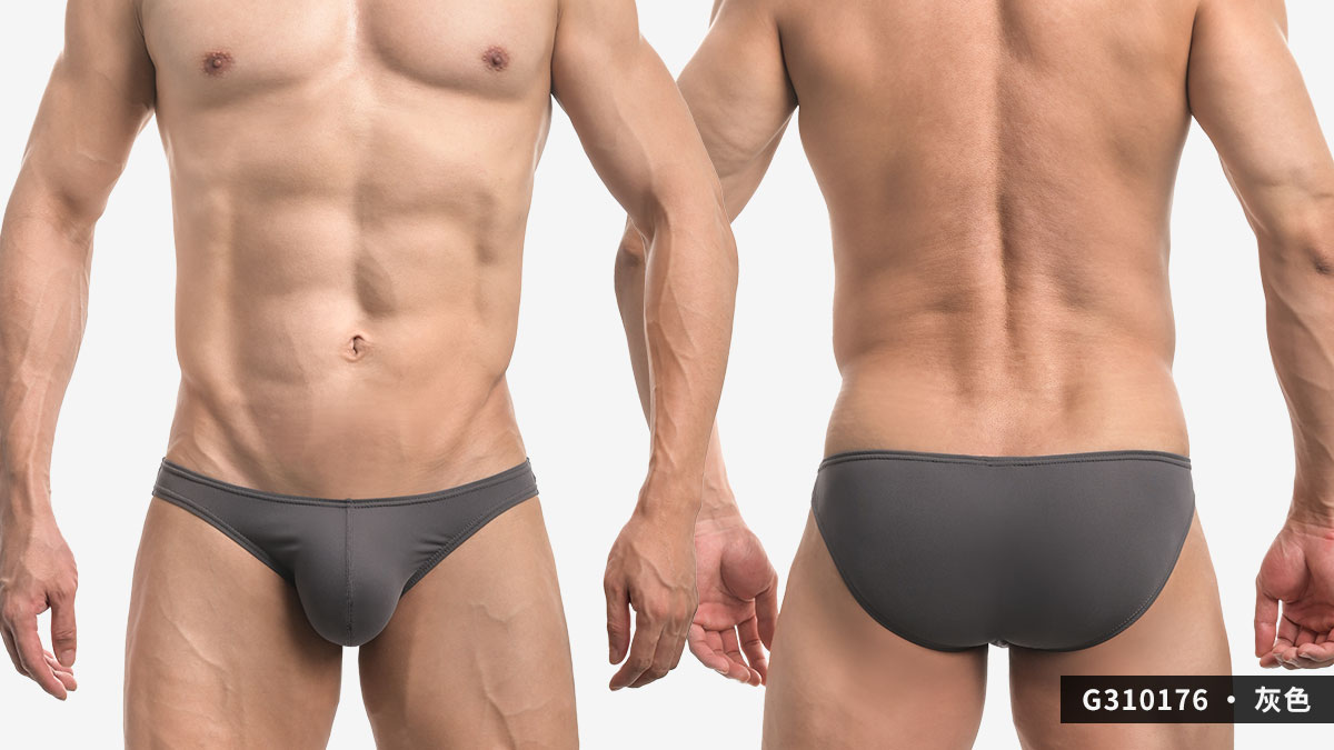 wantku,灰黑,基本款,低腰,三角褲,男內褲,basic styles,low waist,briefs,underwear,g31017,灰色,grey,黑色,black,g310176