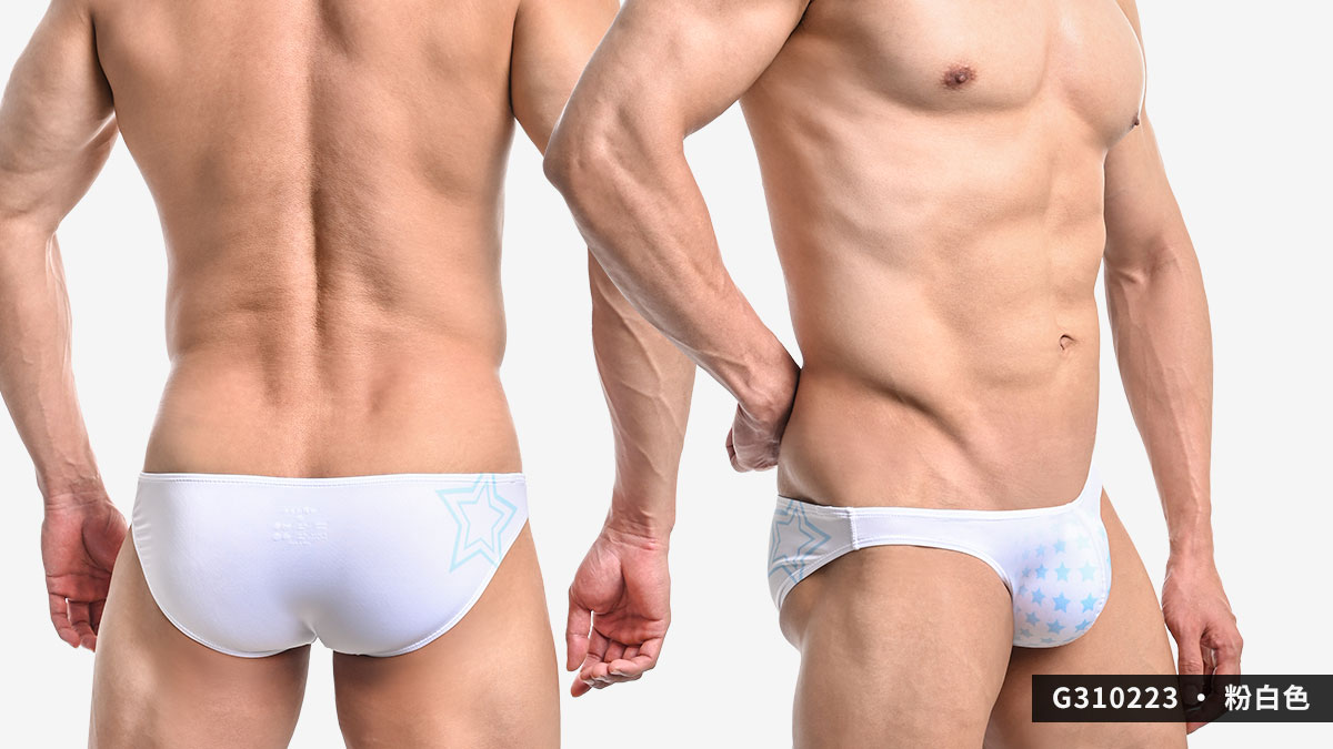willmax,星星,tdt,低腰,三角褲,男內褲,stars,low waist,briefs,underwears,g31022,粉白色,white,黑色,black,g310223