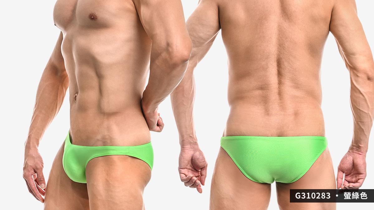 wantku,螢光,霧面,細邊,低腰,三角褲,男內褲,g31028,neon,matte,thin side,low waist,briefs,underwear,綠色,green,桃紅色,pink,黃色,yellow,g310283