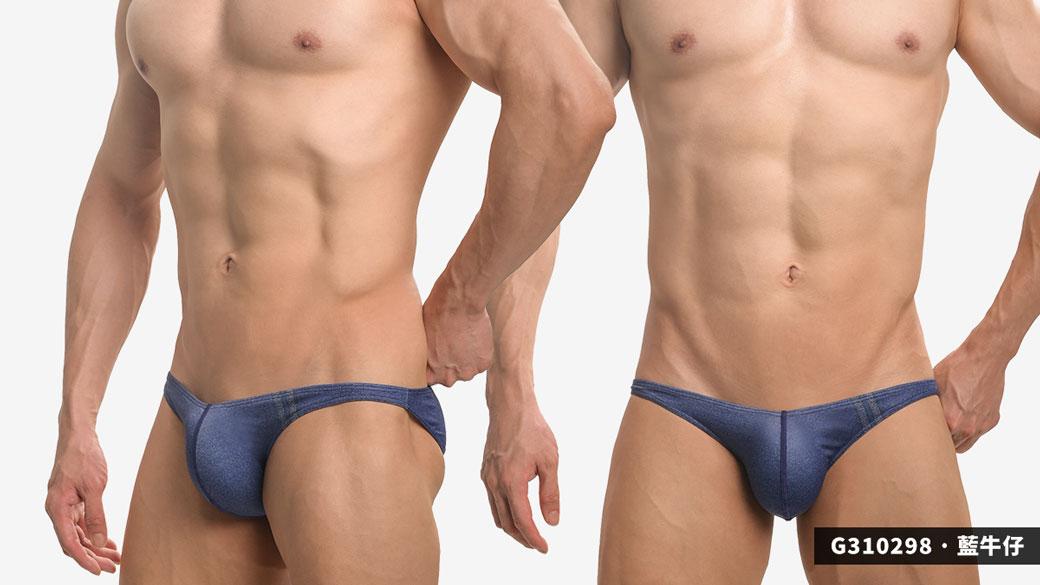 willmax,牛仔褲,圖紋,tdt,極細邊,三角褲,男內褲,g31029,jamie,pattern,super thin sided,briefs,underwear,黑色,black,藍色,blue