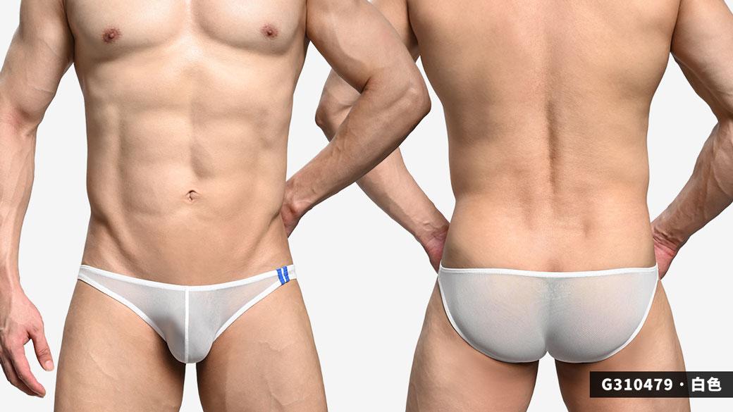 wantku,網紗,藍色,二槓,三角褲,男內褲,mesh,blue,double lines,briefs,underwear,g31047,黑色,black,白色,white