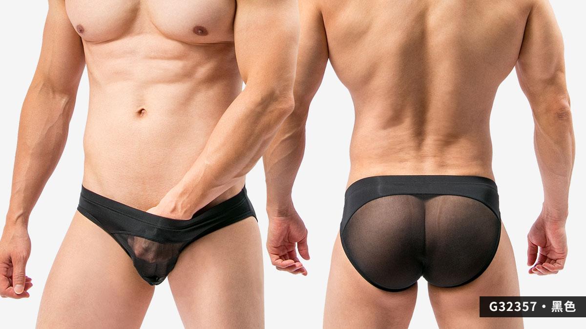 wantku,網紗,三角褲,男內褲,mesh,briefs,underwear,g3235,黑色,black,g32357