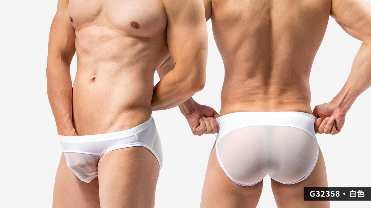 wantku,網紗,三角褲,男內褲,mesh,briefs,underwear,g3235,白色,white,g32358