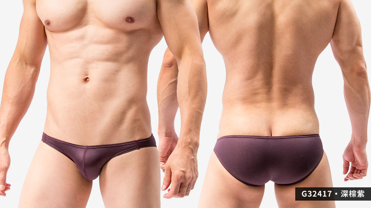 密織布,三角褲,男內褲,dense woven cloth,briefs,underwear,g3241,深棕紫,dark brown purple,g32417