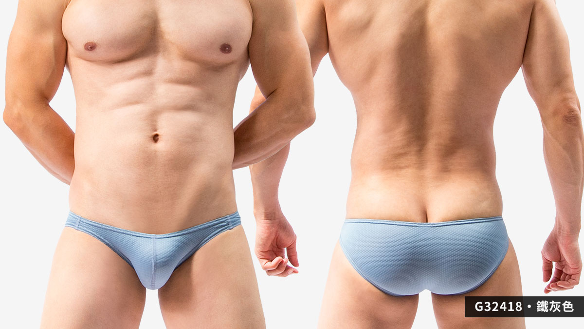 密織布,三角褲,男內褲,dense woven cloth,briefs,underwear,g3241,鐵灰色,steel grey,g32418