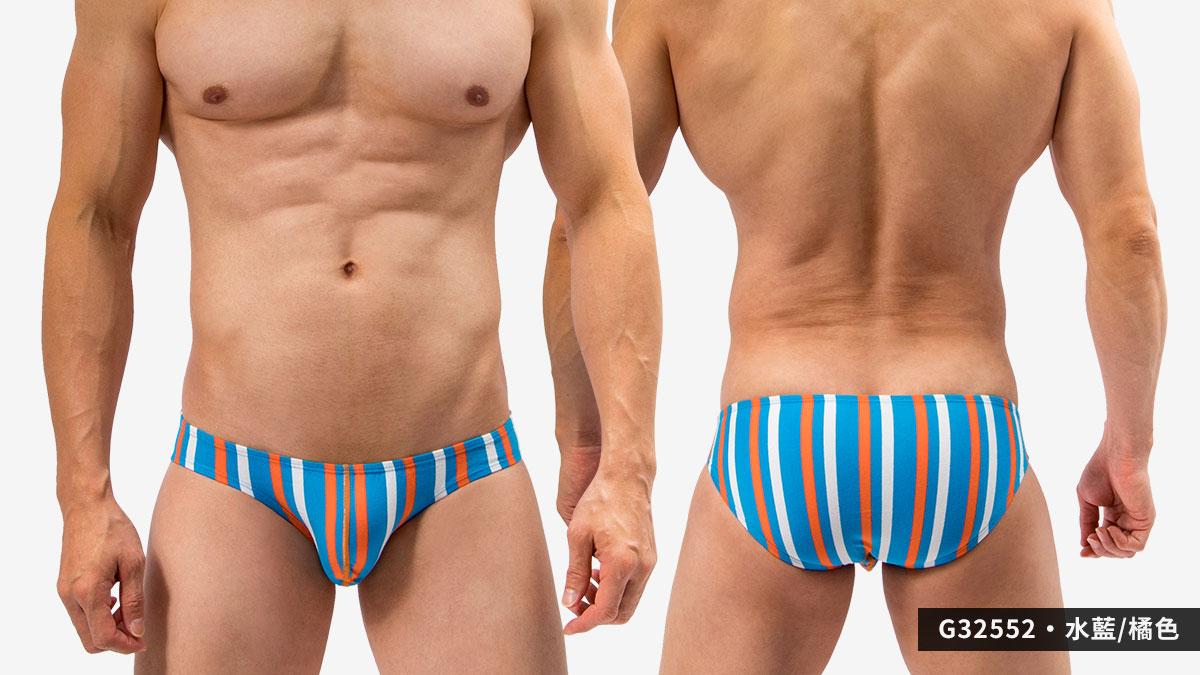 willmax,條紋,低腰,三角褲,男內褲,strips,low waist,briefs,underwear,g3255,水藍,橘,water blue,orange,g32552