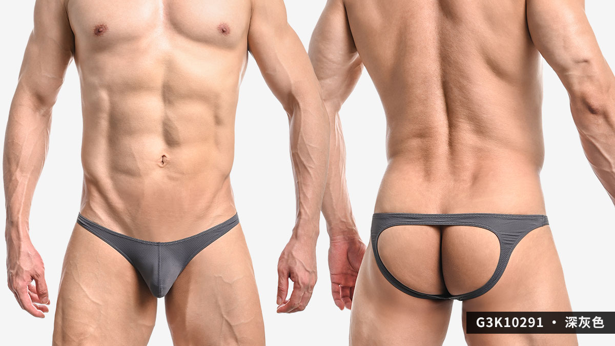 wantku,網孔,彈性,後空褲,男內褲,mesh,elastic,jockstraps,underwear,g3k1029,深灰色,dark grey,白色,white,g3k10291
