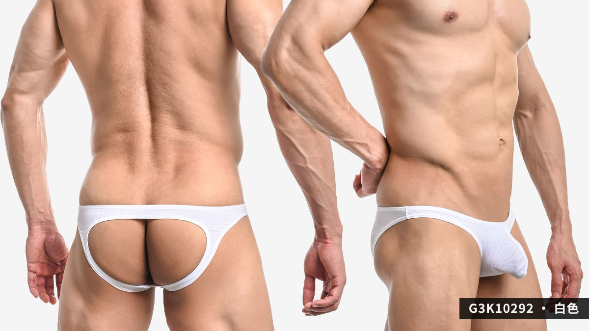 wantku,網孔,彈性,後空褲,男內褲,mesh,elastic,jockstraps,underwear,g3k1029,深灰色,dark grey,白色,white,g3k10292