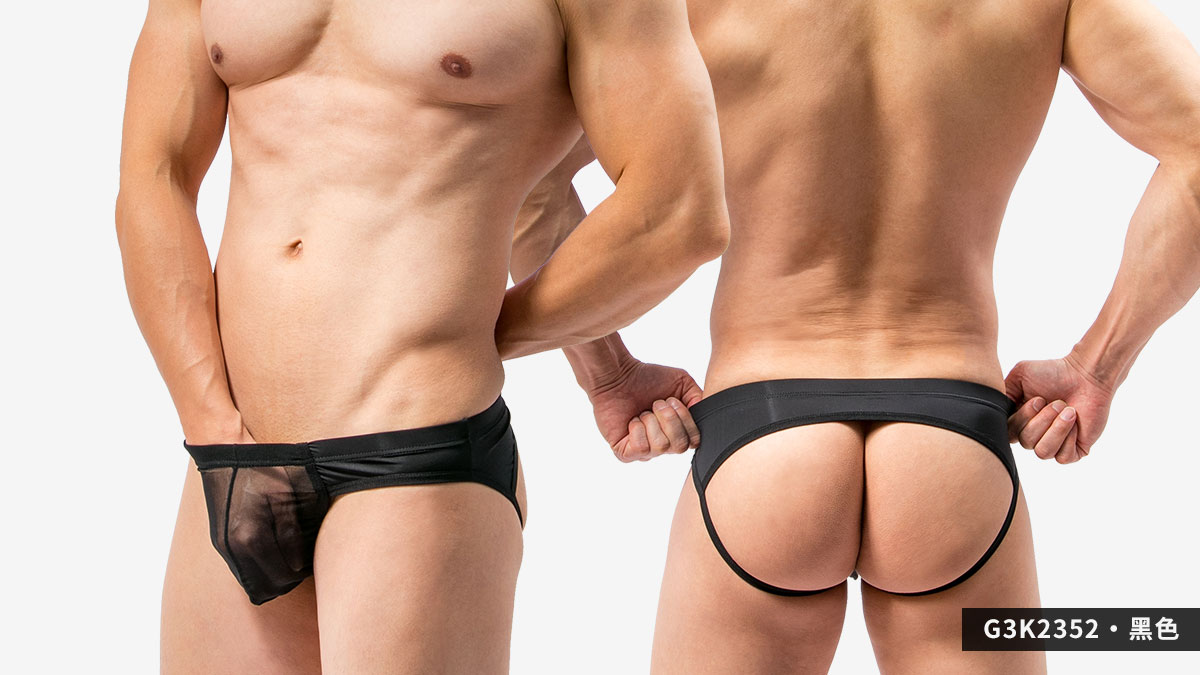 wantku,網紗,後空褲,男內褲,mesh,jockstraps,underwear,g3k235,黑色,black,g3k2352