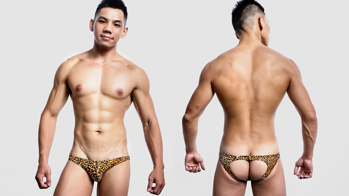 豹紋,極限,低腰,後空褲,男內褲,jg3k112,leopard,low waist,jockstraps,underwear