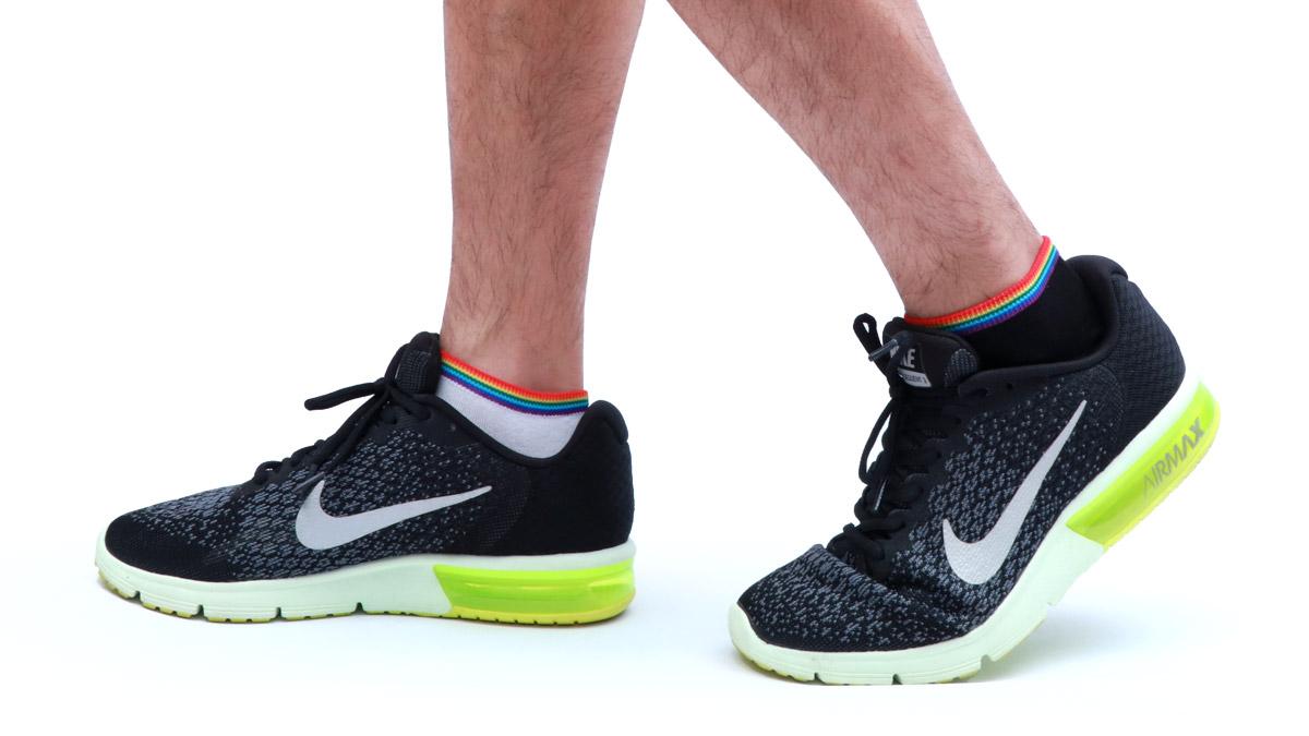 上段,彩虹,條紋,腳踝襪,rainbow,stripes,socks,ks1907