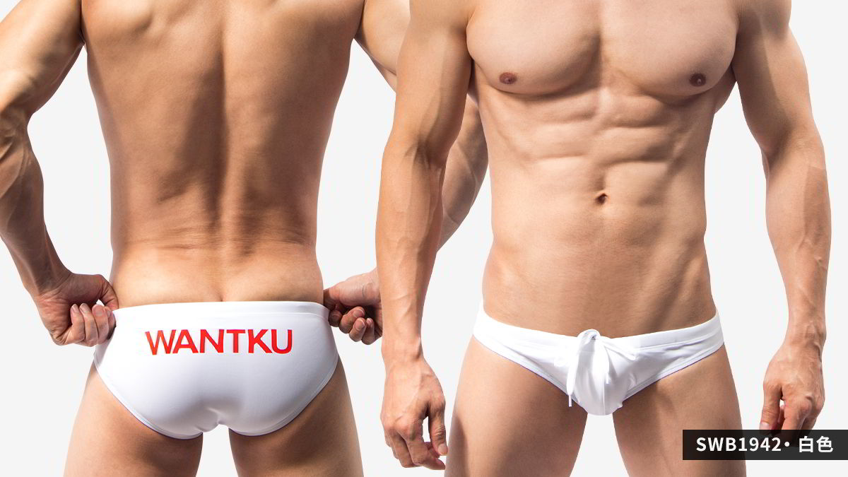 細邊,低腰,三角,泳褲,巨盃,thin side,low waist,briefs,swimwear,giant cup,swb194,白色,white,swb1942