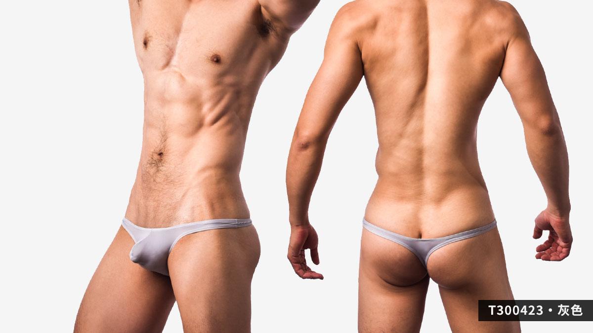 超薄,細邊,低腰,丁字褲,男內褲,ultra-thin,thin sided, low waist,thongs,underwear,t30042,灰色,grey,t300423