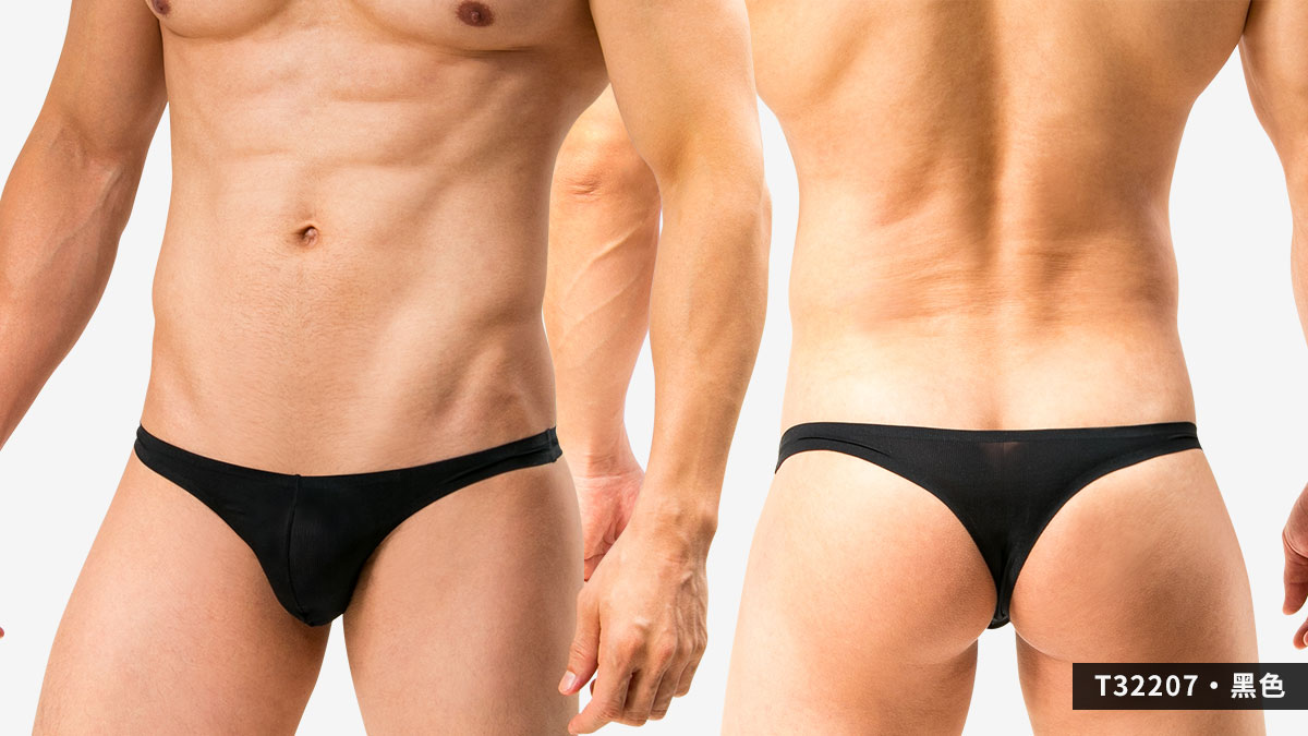wantku,基本款,無痕,丁字褲,男內褲,basic types,seamless,thongs,underwear,t3220,黑色,black,t32207