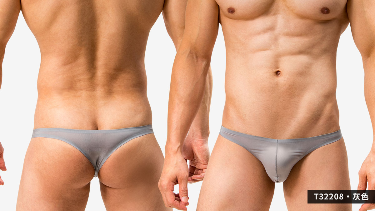 wantku,基本款,無痕,丁字褲,男內褲,basic types,seamless,thongs,underwear,t3220,灰色,grey,t32208