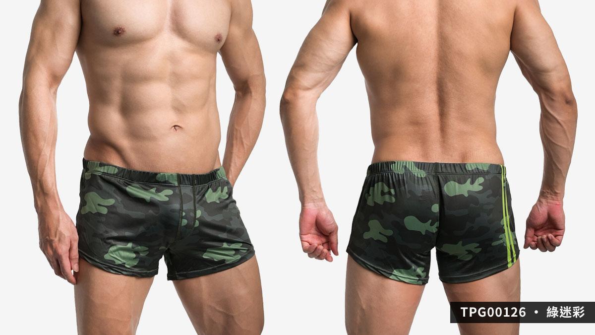willmax,迷彩,g-cup,平口褲,男內褲,camouflage,trunks,tpg0012,green,綠色,blue,藍色,grey,灰色,tpg00126